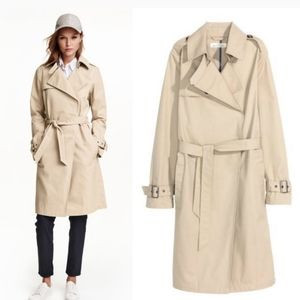 Logg h&m long tan trench coat